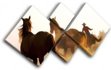 Wild Horses Animals - 13-1076(00B)-MP19-LO